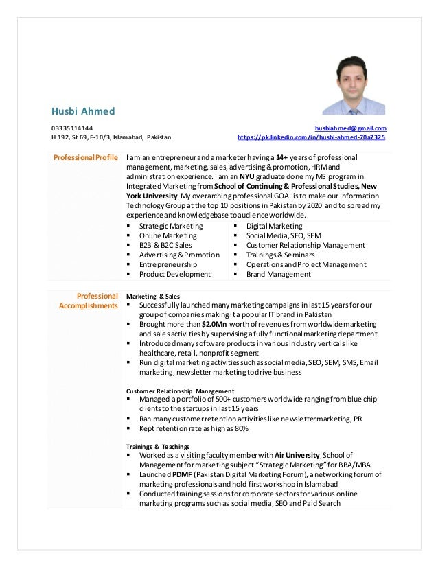 husbi ahmed resume