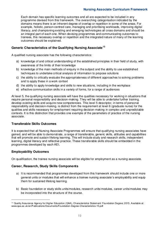 Nursing Associate Curriculum Framework Feb2017