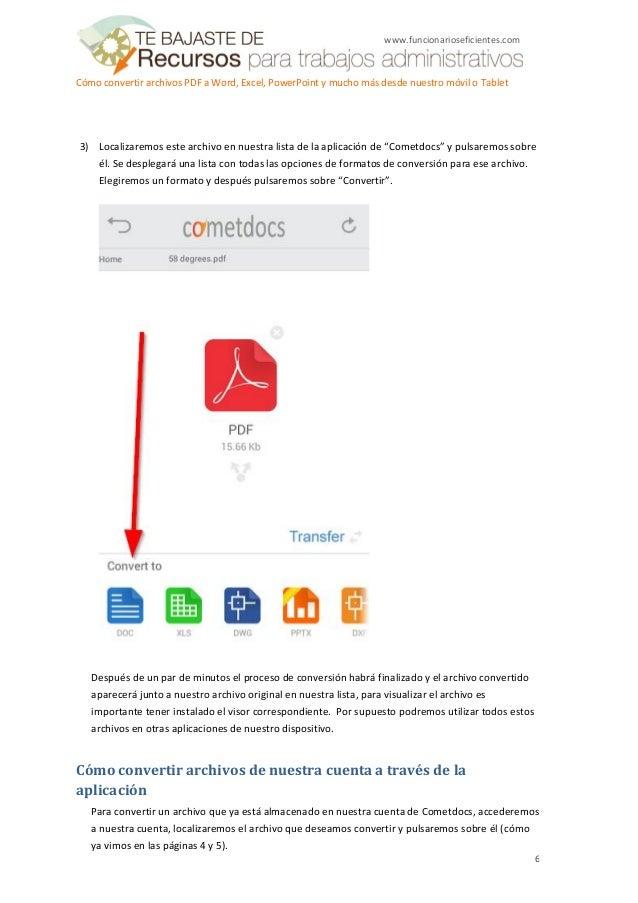 convertir archivos pdf a word o excel online