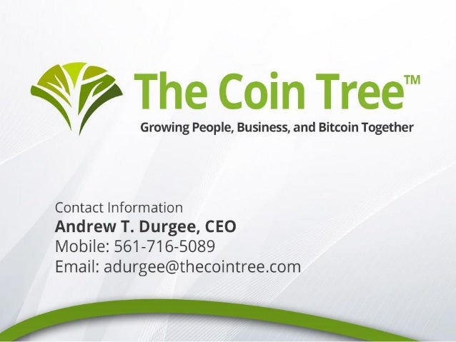 """""""The Coin Tree is a cloud-based storage, insurance, and payment processing platform for bitcoin that leverages cutting edg..."""