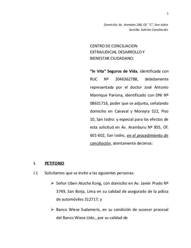 09 conciliaci n extrajudicial de invita for Modelo acuerdo extrajudicial clausula suelo