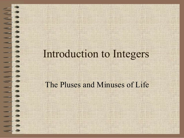 Integers Intro