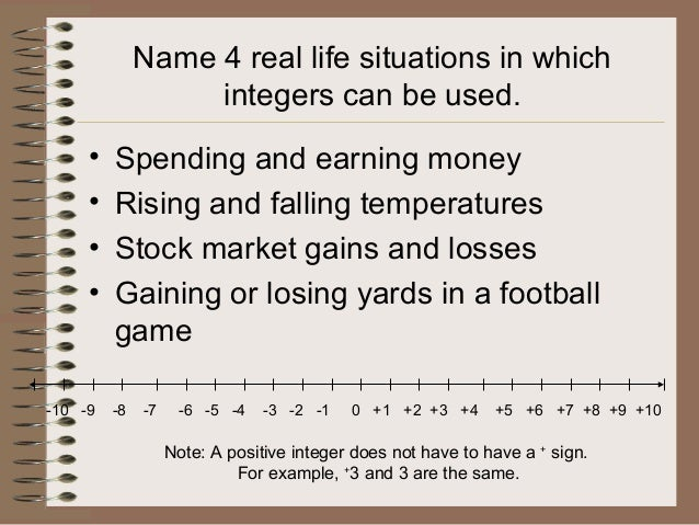 goalfinder integers natural and whole numbers animated easy