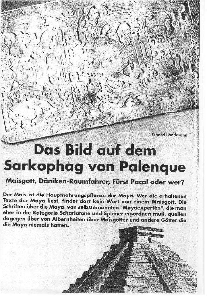 Das Bild auf dem Sarkophag von Palenque von Erhard Landmann