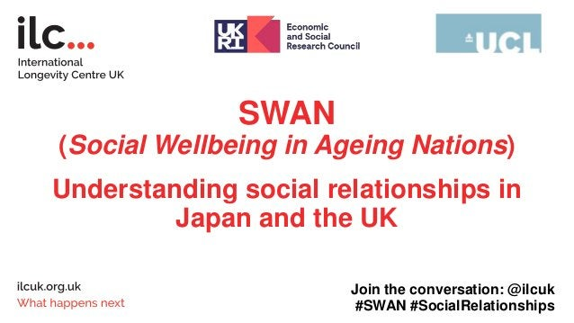 SWAN (Social Wellbeing in Ageing Nations) Understanding social relationships in Japan and the UK Join the conversation: @i...