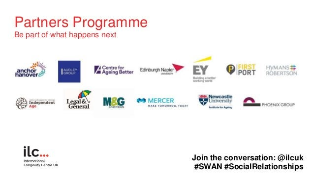 Partners Programme Be part of what happens next Join the conversation: @ilcuk #SWAN #SocialRelationships