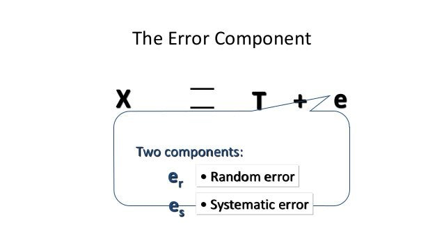 What Is Random Error? • Any factors that randomly affect measurement of the variable across the sample. • For instance, ea...