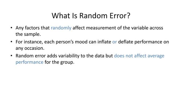 Random Error X Frequency The distribution of X with no random error