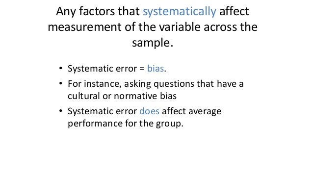 Systematic Error X Frequency The distribution of X with no systematic error
