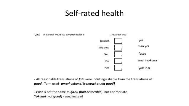 Does self rated health measure the same concept across countries? Insights from a comparison of older adults in England an...