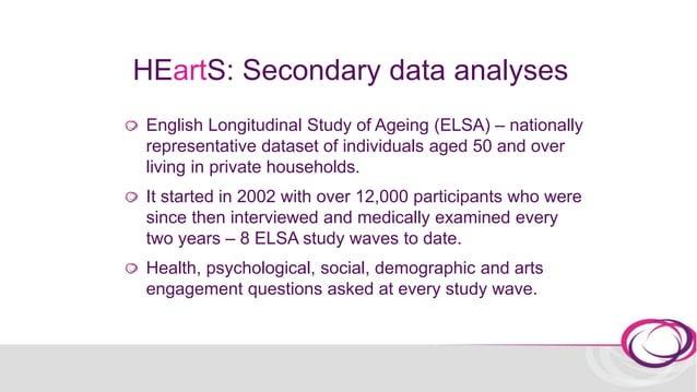 ELSA: arts engagement Arts engagement measurement in ELSA