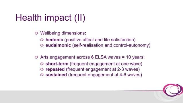 Health impact (II) Arts engagement measurement in ELSA