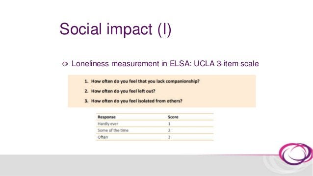 Social impact (I) Is arts engagement associated with lower odds of loneliness contemporaneously (cross-sectional analyses)...