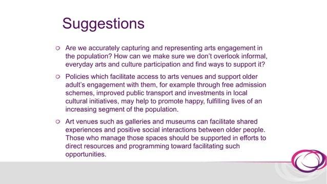 II. Cultural engagement measures 2006 UNESCO Guidelines for Measuring Cultural Participation http://uis.unesco.org/sites/d...