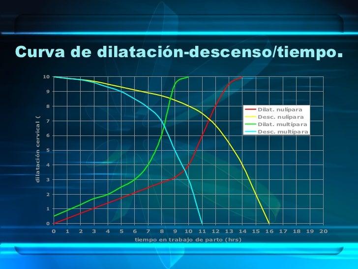 Curva de dilatación-descenso/tiempo . .