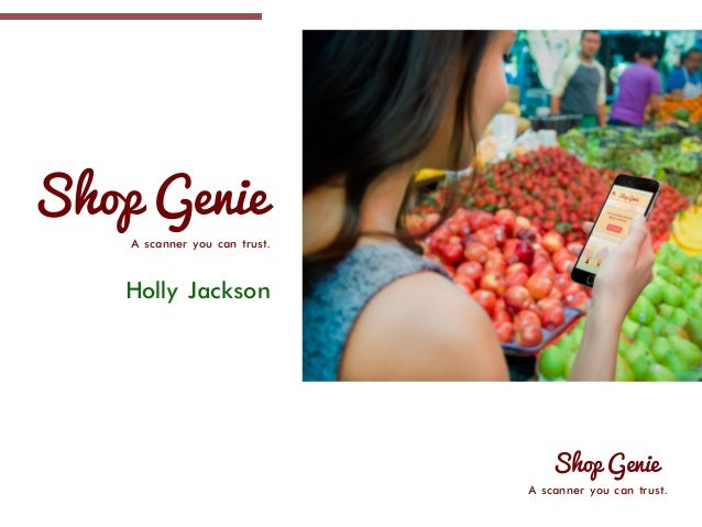 Shop Genie A scanner you can trust. Holly Jackson Shop Genie A scanner you can trust.