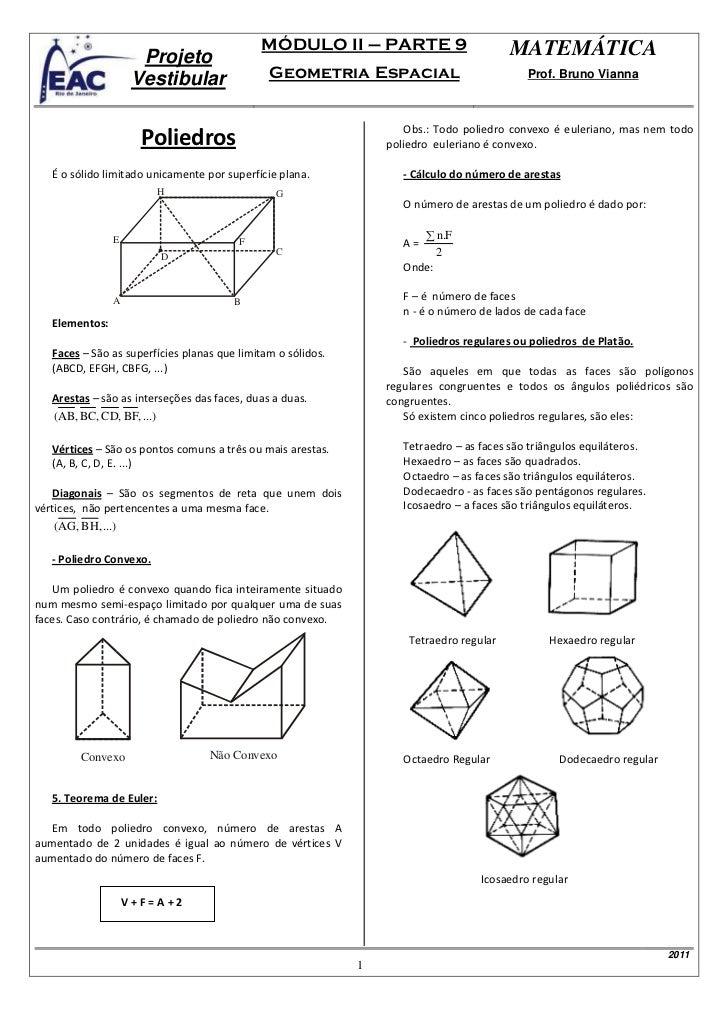 MÓDULO II – PARTE 9                          MATEMÁTICA                      Projeto                     Vestibular       ...