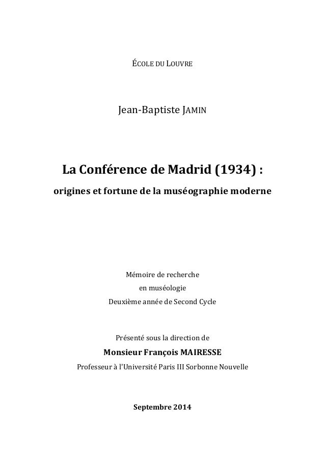 ÉCOLE  DU  LOUVRE              Jean-‐Baptiste  JAMIN                 La  Conférence...