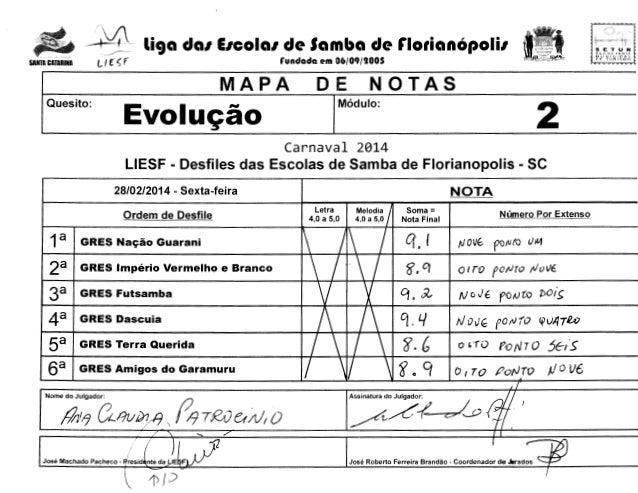 - ~Y;. Lf f  SANTA CATARINA  ~  liga da1 E1cola1 de Samba de r1orian6poli1  SLCHe fAr-1:!/, MUNlCirAt GE T(lRlSI.10  runda...