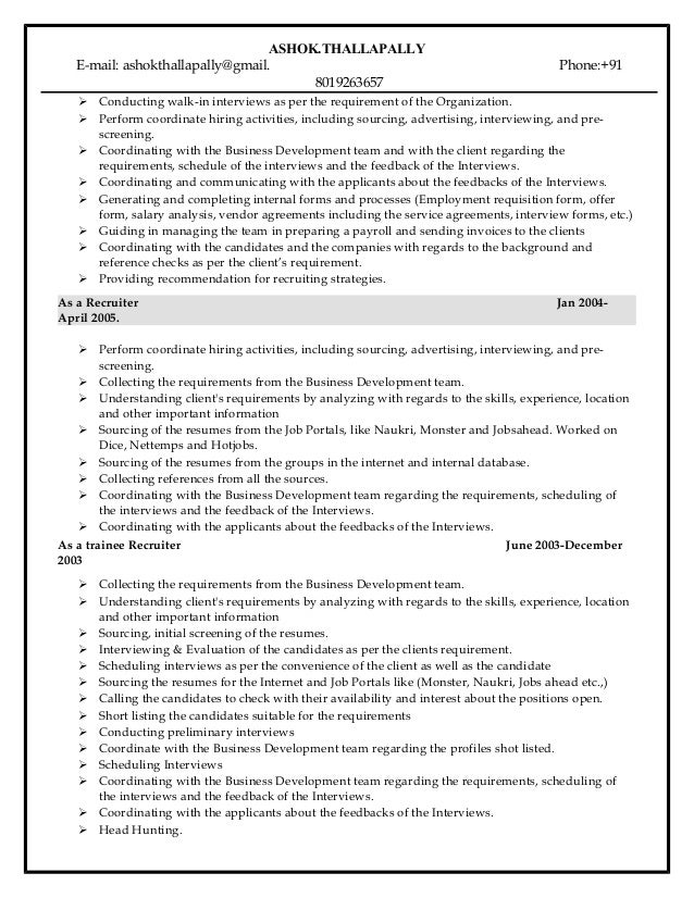 ashok update resume