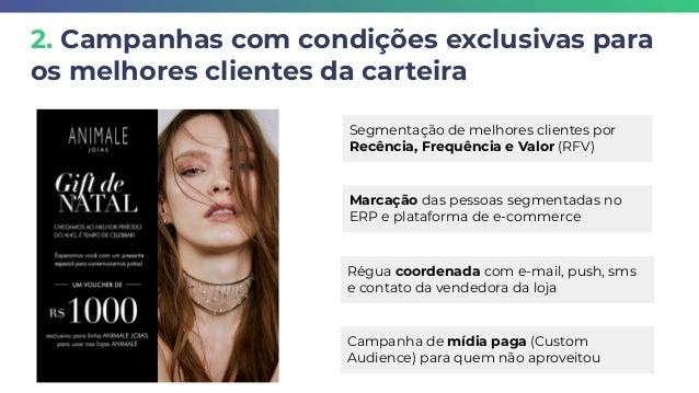 2. Campanhas com condições exclusivas para os melhores clientes da carteira Segmentação de melhores clientes por Recência,...