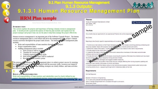 09 project human resources management based on pmbok5 for Human resource plan template pmbok