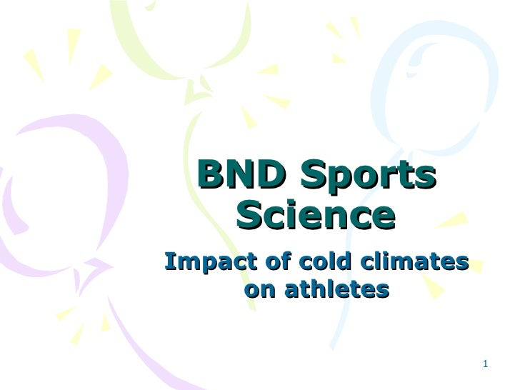 BND Sports Science Impact of cold climates on athletes