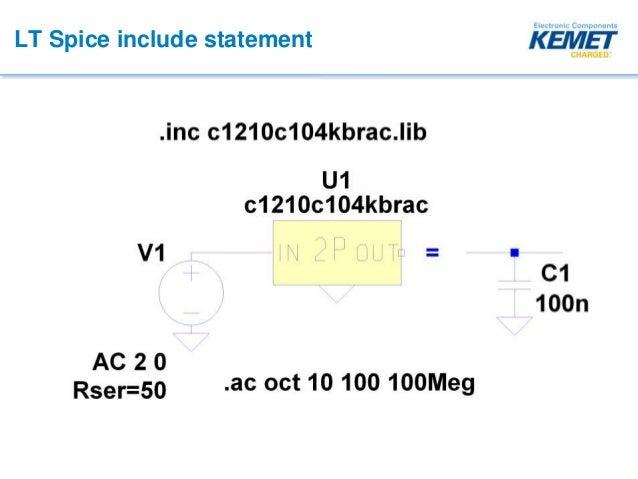 KEMET Webinar - Using KSIM and LTSpice