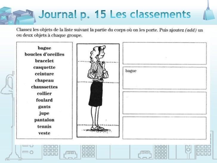 Journal p. 15 Les classements<br />