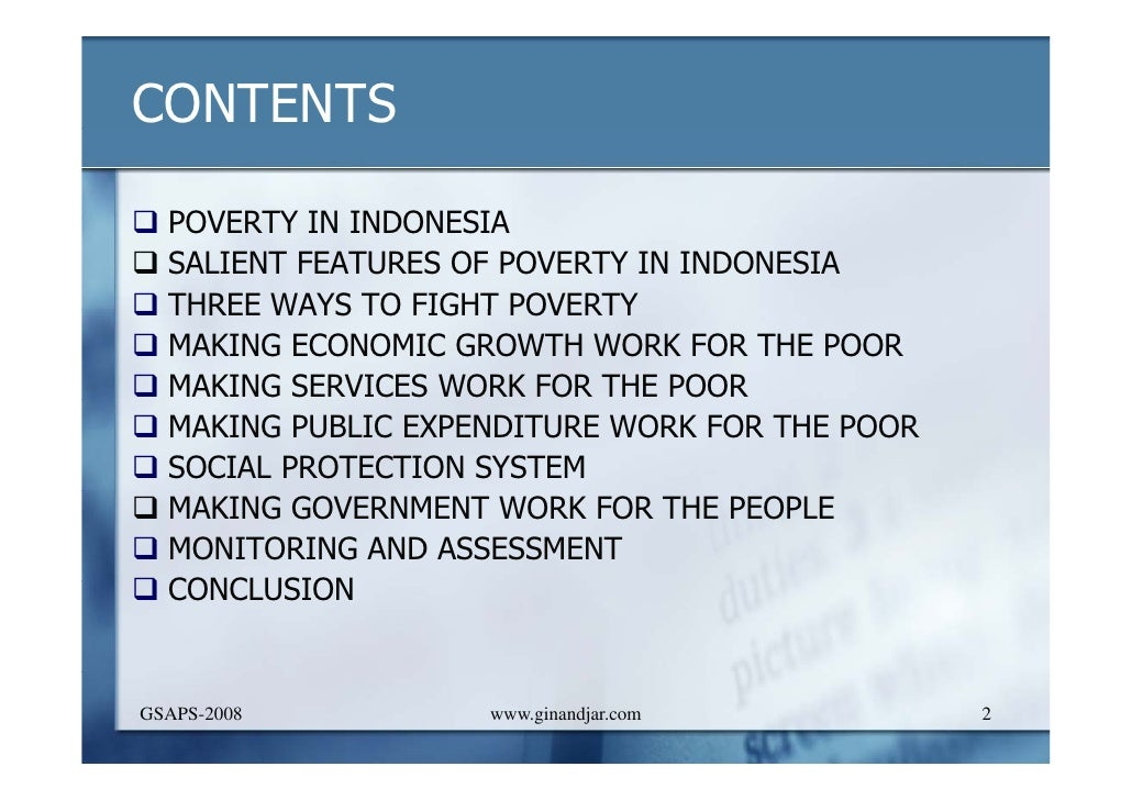 Making indonesia work for the poor