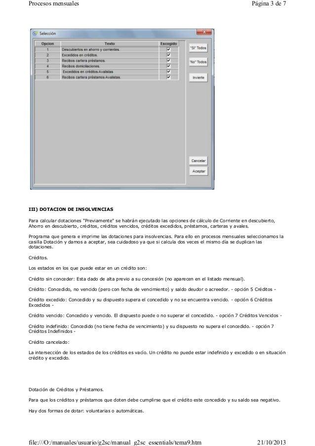 09 Manual de VisionCredit Gregal Entidades Financieras  - Procesos mensuales Slide 3