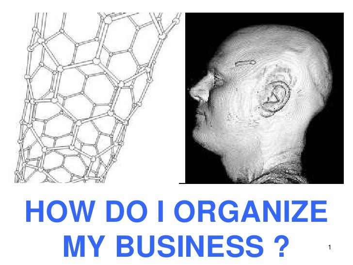 1<br />HOW DO I ORGANIZE MY BUSINESS ?<br />