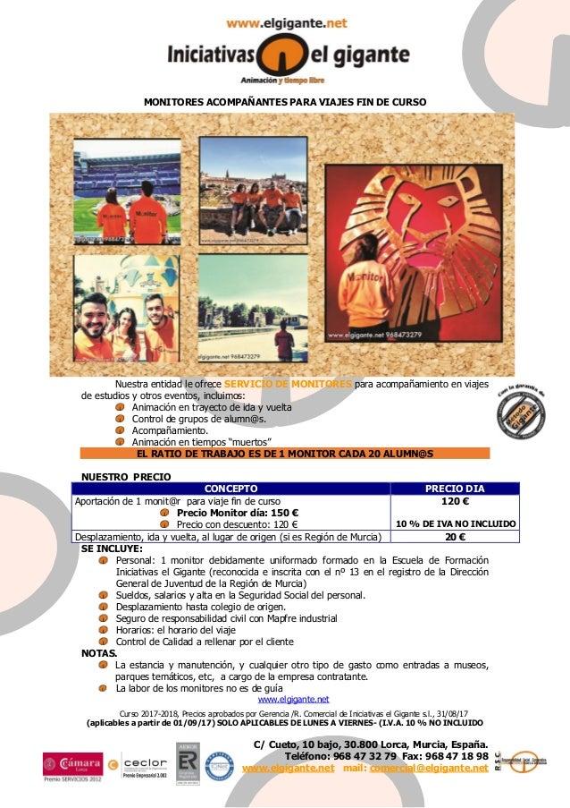 C/ Cueto, 10 bajo, 30.800 Lorca, Murcia, España. Teléfono: 968 47 32 79 Fax: 968 47 18 98 www.elgigante.net mail: comercia...