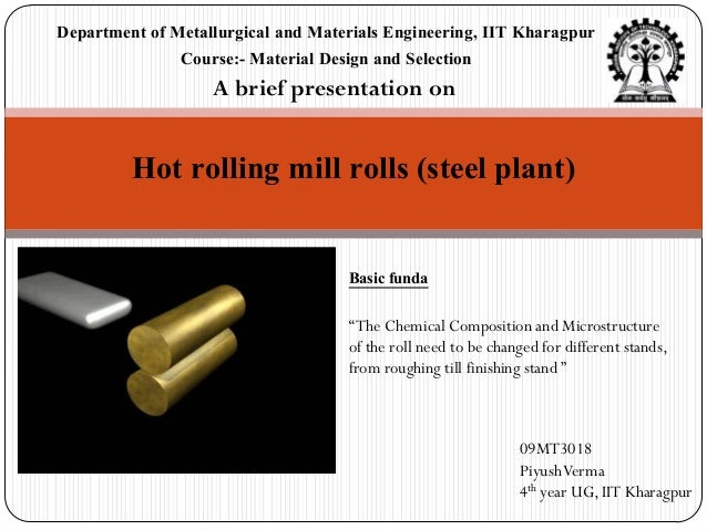 Department of Metallurgical and Materials Engineering, IIT Kharagpur               Course:- Material Design and Selection ...