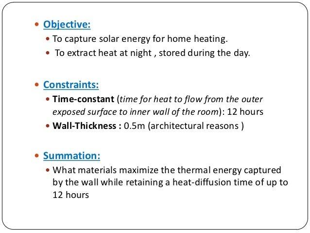 Passive Solar - Greengineers  Passive Solar Material
