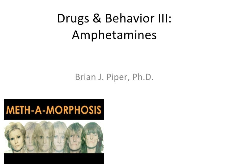 Drugs & Behavior III:  Amphetamines   Brian J. Piper, Ph.D.