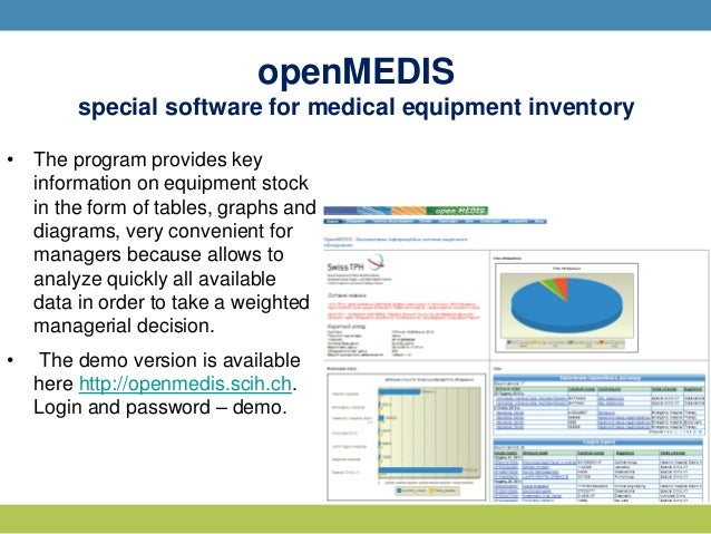 Telemedicine and electronic inventory: experience of the regions