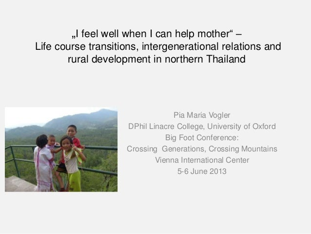 """""""I feel well when I can help mother"""" – Life course transitions, intergenerational relations and rural development in north..."""