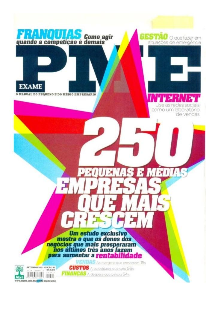 Plano1 é a 35ª empresa que mais cresce no Brasil de acordo com ranking da Exame PME 2011