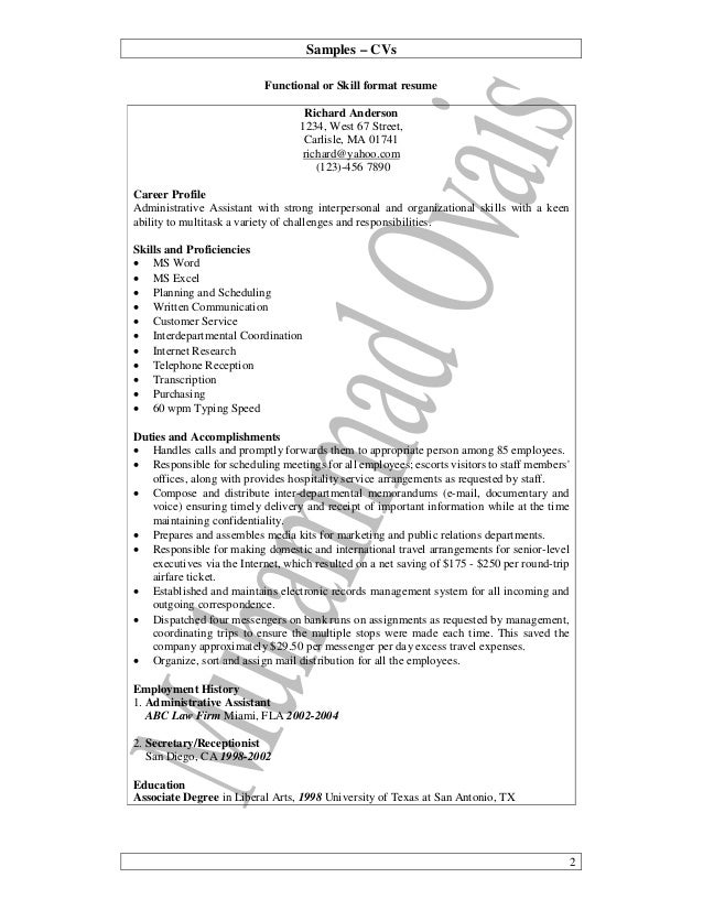 09 practical writing samples cv