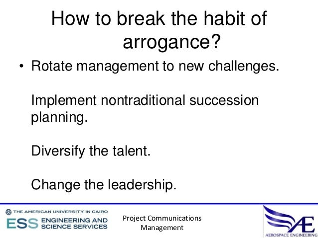 Destructive habits in organizations and projects