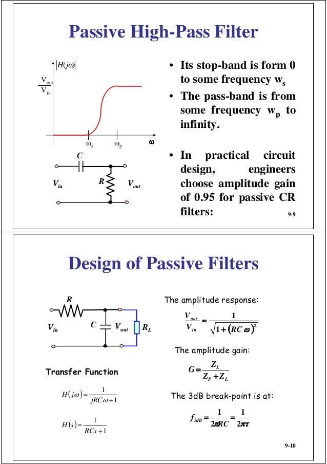 Designing an active low pass or high pass filter