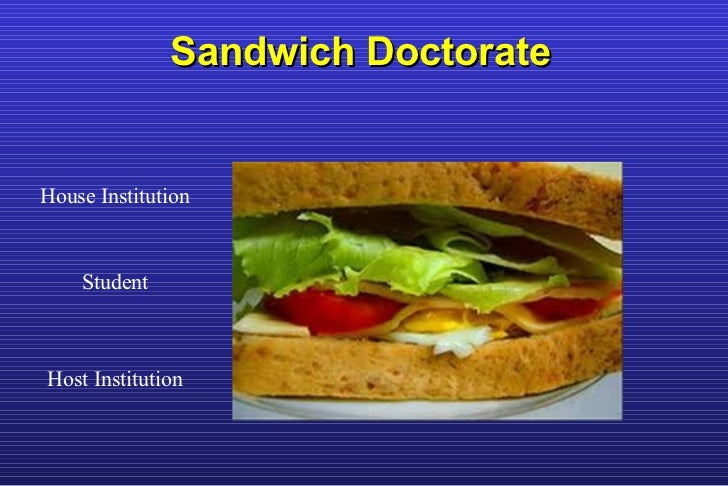 Sandwich Doctorate House Institution Student Host Institution