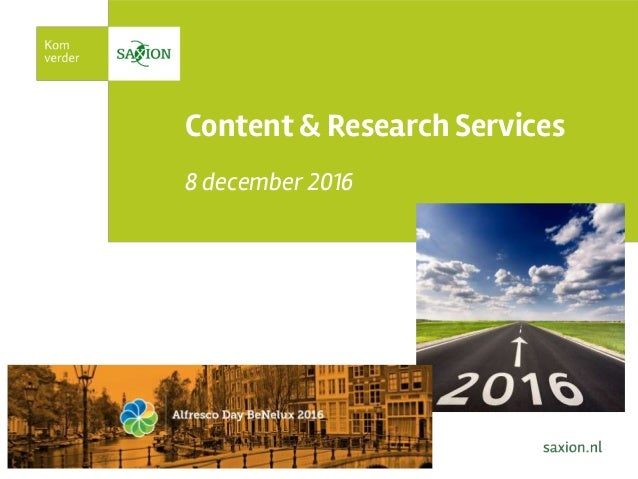 Content & Research Services 8 december 2016