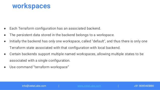 09 Terraform: remote state-backend-workspace