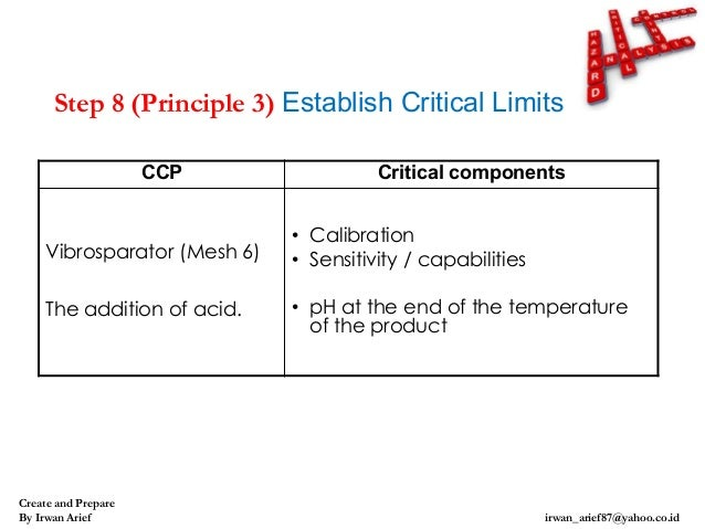critical comparison between cp and ph (3) control point a control point (cp) is a stage in the preparation of food on which the safety of the final product is not entirely dependent, but together with other preparation stages is essential to maintain food safety.