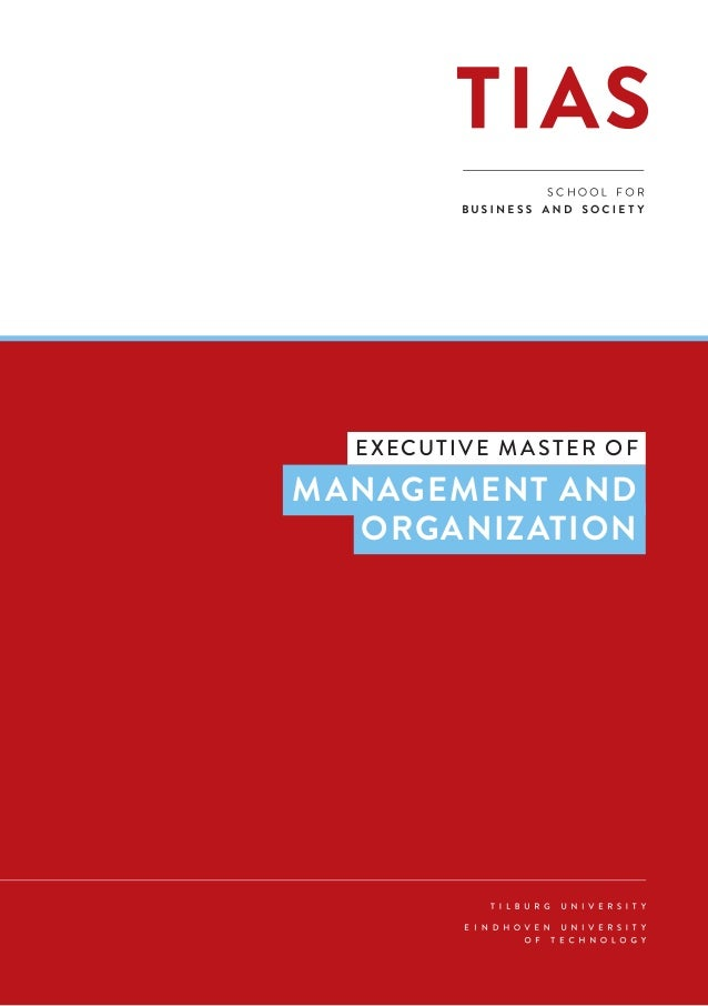 1 FINANCE EXECUTIVE MASTER IN MANAGEMENT AND   ORGANIZATION  EXECUTIVE MASTER OF