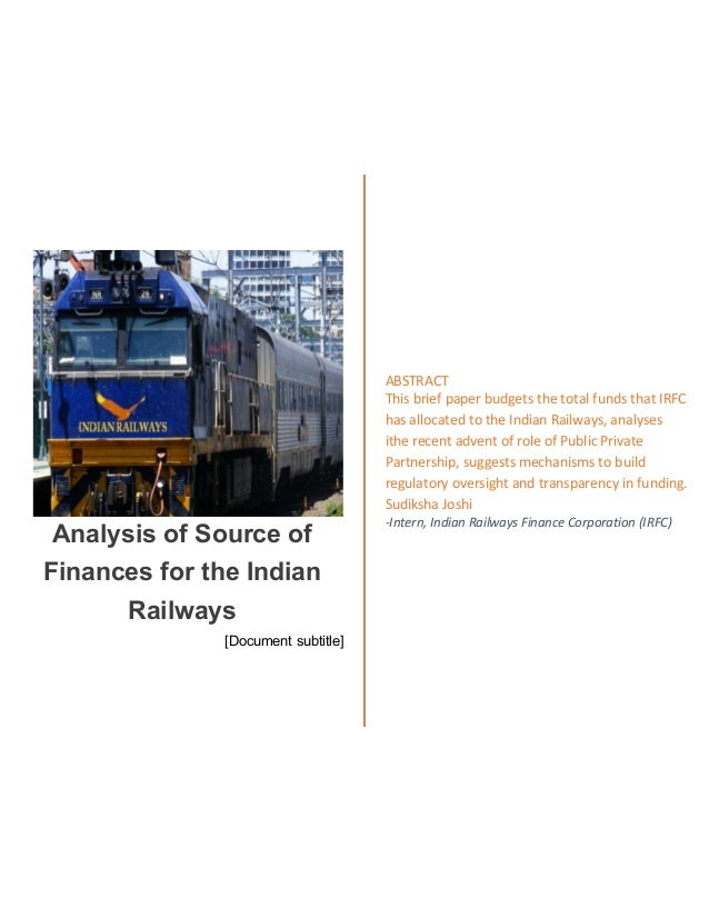 Indian railways research papers