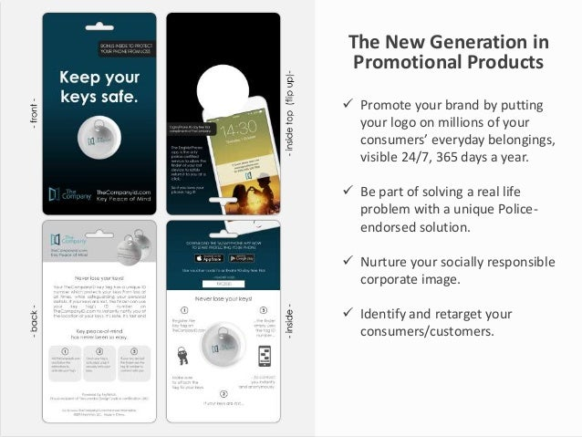 The New Generation in Promotional Products  Promote your brand by putting your logo on millions of your consumers' everyd...