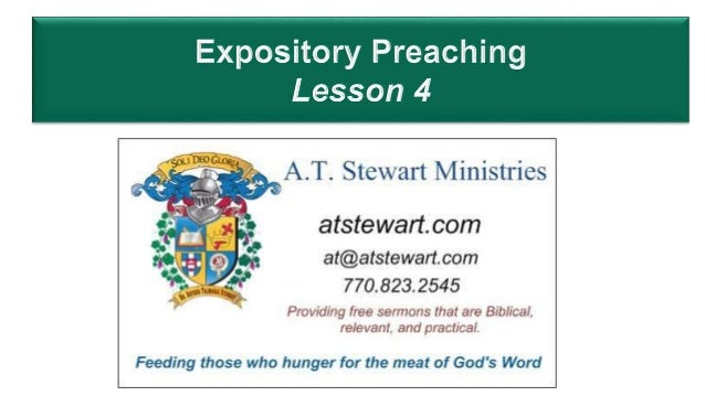 Expository Preaching lesson 4